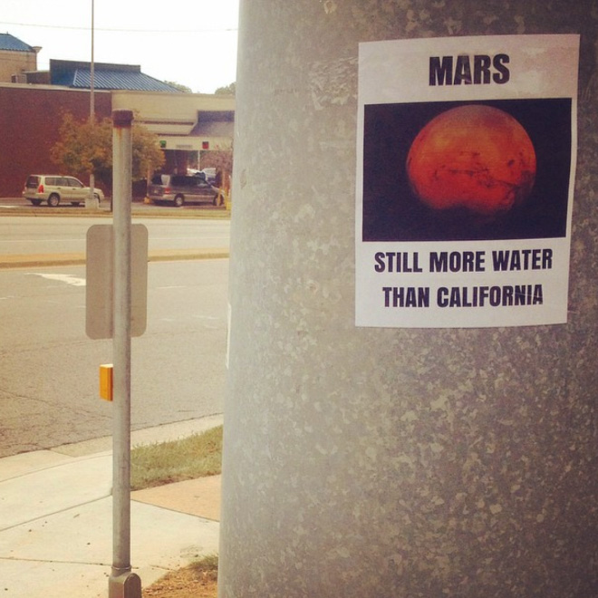 Clever fake poster by comedian Jason C. Saenz in California.