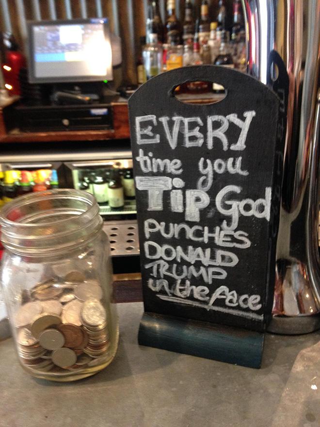 Hilarious tip jar.