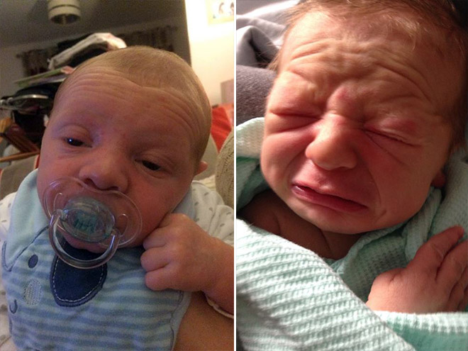 Some babies look like middle aged men.