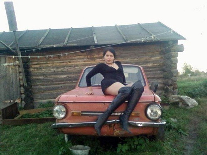 Very seductive profile pic from Russian dating site.