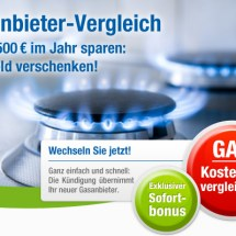 Gasanbieter Direktvergleich