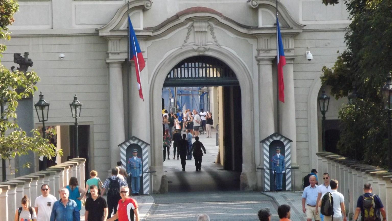 Entrada da praça central