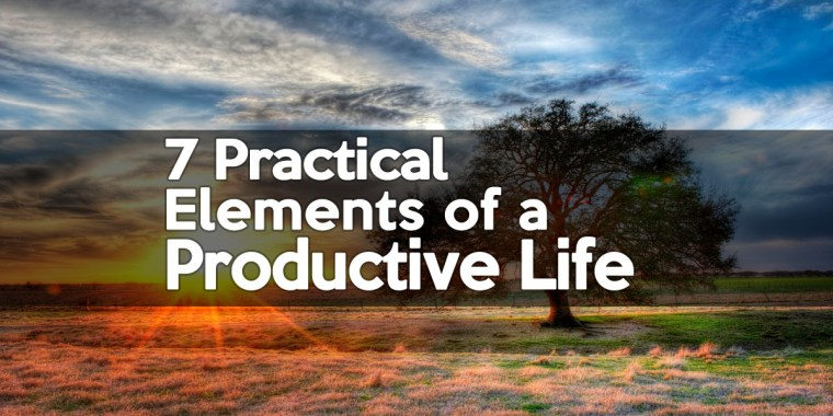 7-practical-elements-of-a-productive-life - 1BabaSalam.com