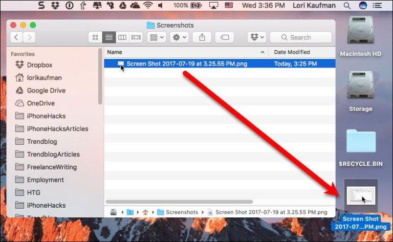 Как изменить место сохранения снимков экрана на Mac
