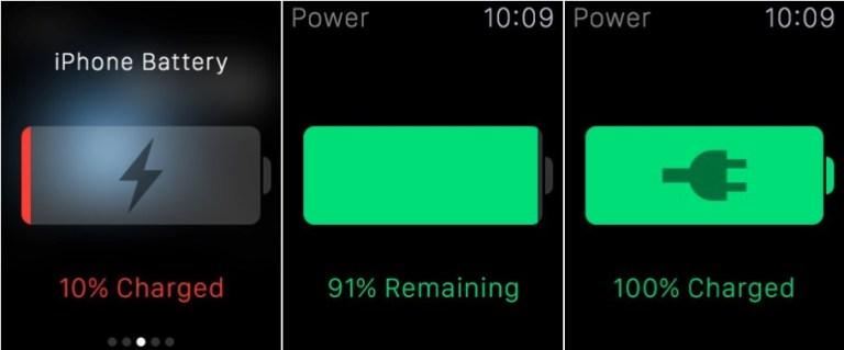 Как проверить уровень заряда аккумулятора iPhone на Apple Watch