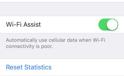 Как работает Wi-Fi Assist в iOS 9;  и как это отключить