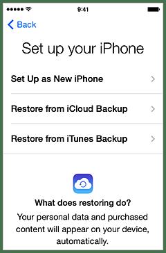 Перенос данных со старого iPhone на новый iPhone 6 или iPhone 6 Plus