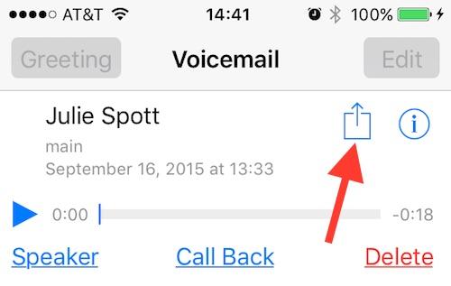Как поделиться голосовой почтой на вашем iPhone в iOS 9