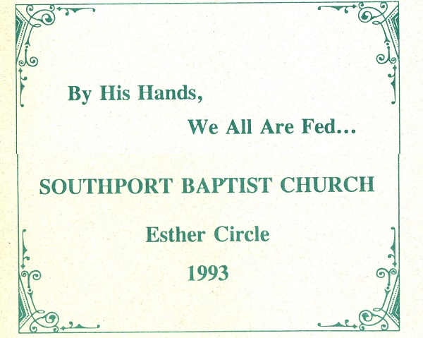 1993 Esther Circle Cookbook