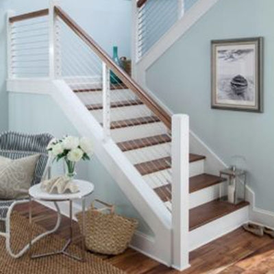 Crown Heritage Cable Railing Brosco | Handrail For Stairs Indoor | Short Staircase | Victorian | Width Hand | Wall | Glass Panel Stainless Steel Handrail