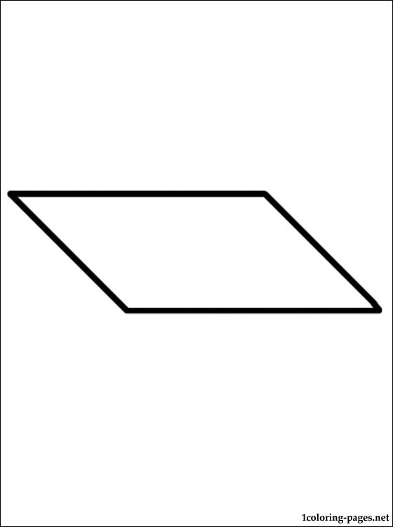 parallelograms colouring pages