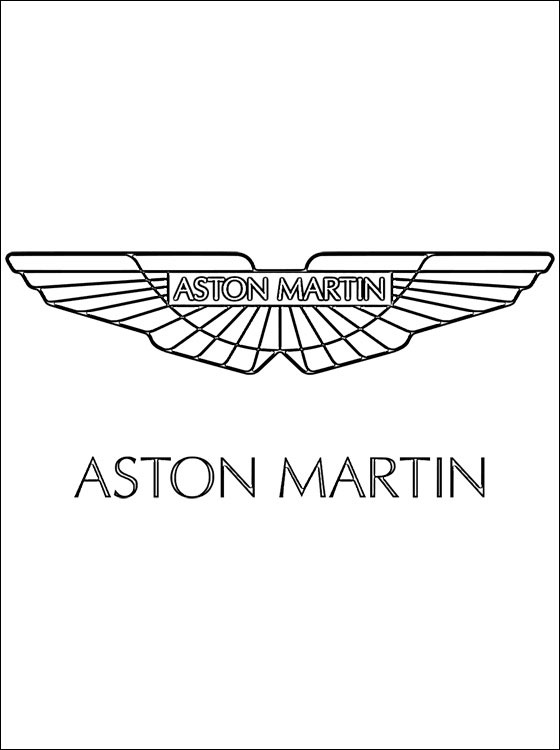 Aston Martin Logo Coloring Page Coloring Pages