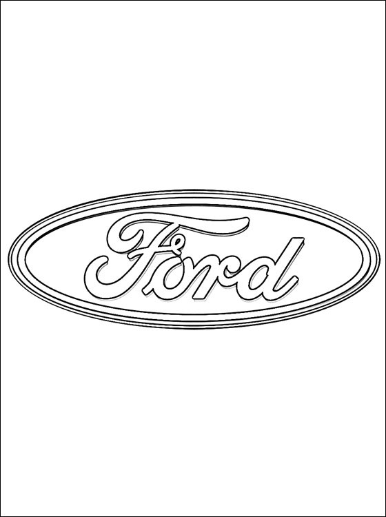 coloring page ford logo coloring pages
