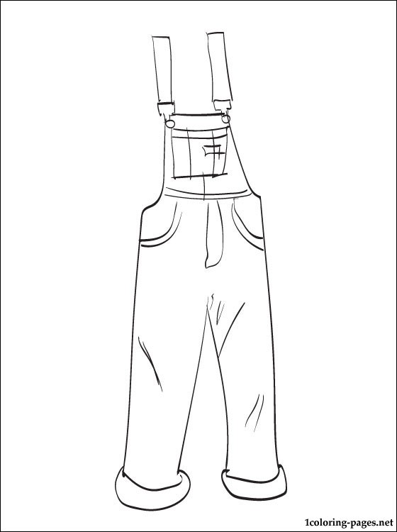 overalls and drawing page for anyone who is interested in