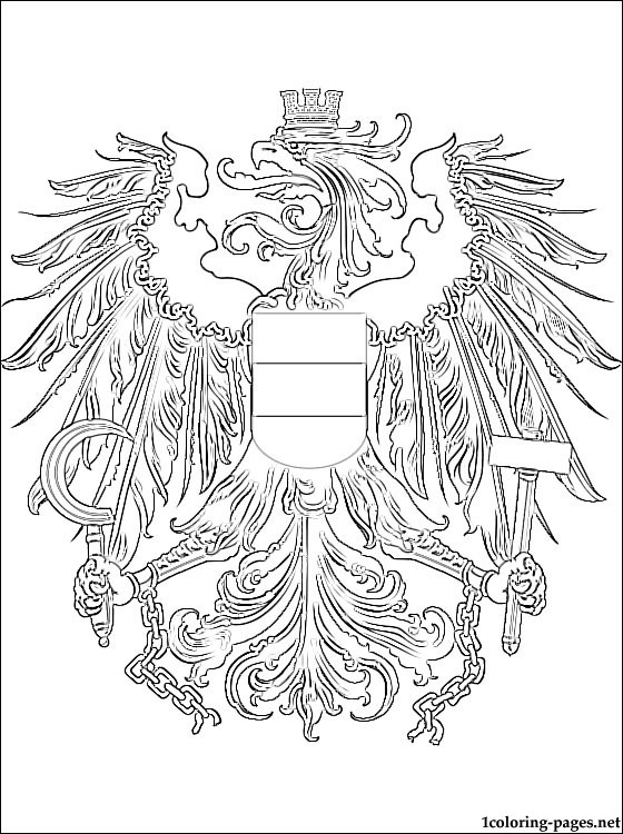 Austria Coat Of Arms Coloring Page Coloring Pages