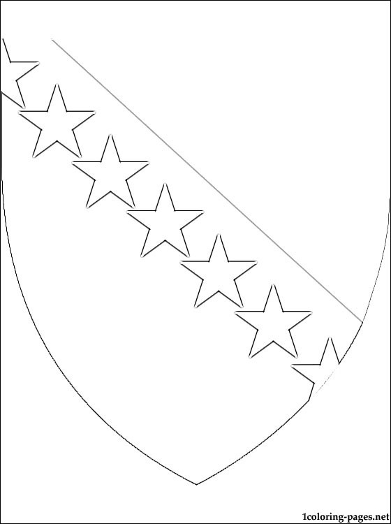 Bosnia And Herzegovina Coat Of Arms Coloring Page
