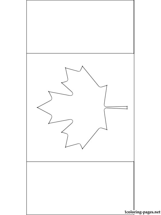 canada flag coloring page coloring pages