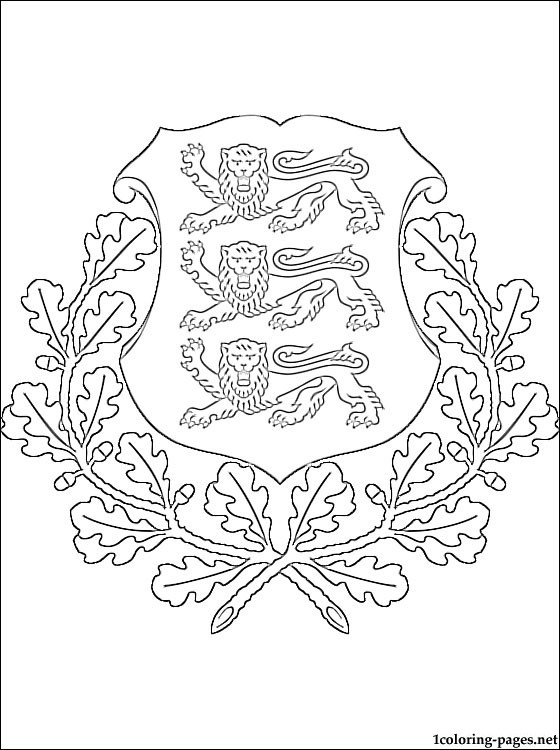 Estonian Coat Of Arms Coloring Page Coloring Pages