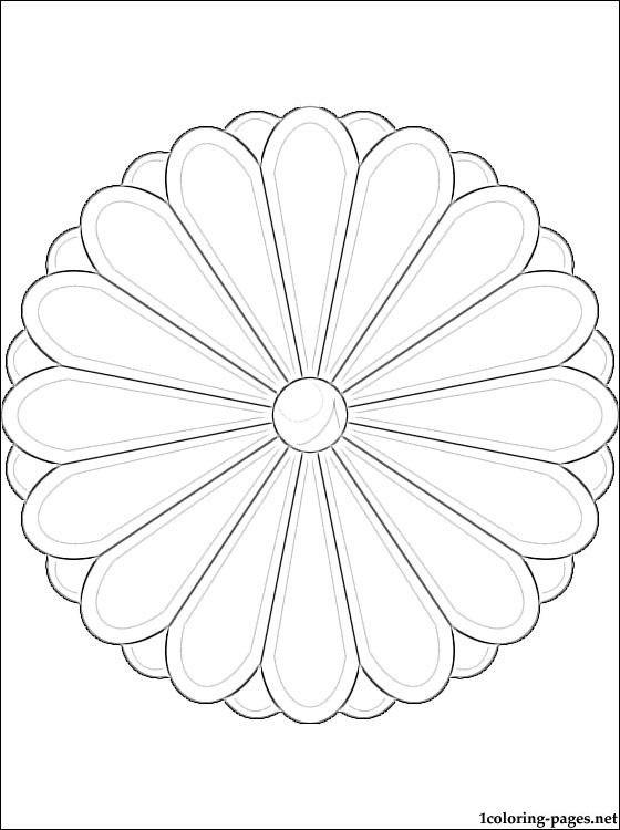 Japan Coat Of Arms Coloring Page Coloring Pages