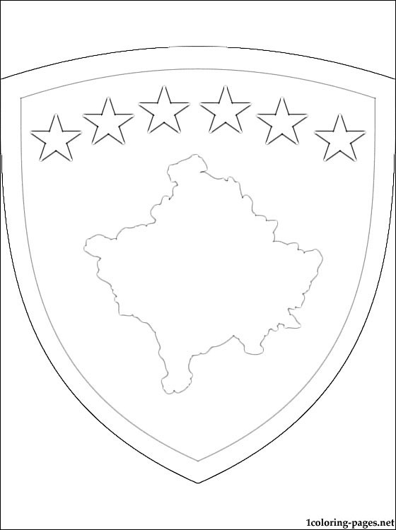 Kosovo Coat Of Arms Coloring Page Coloring Pages