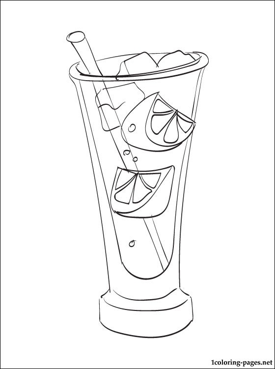 Gin Tonic Coloring Page Coloring Pages