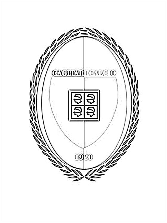 Logo Of Cagliari Calcio Football Club Coloring Pages