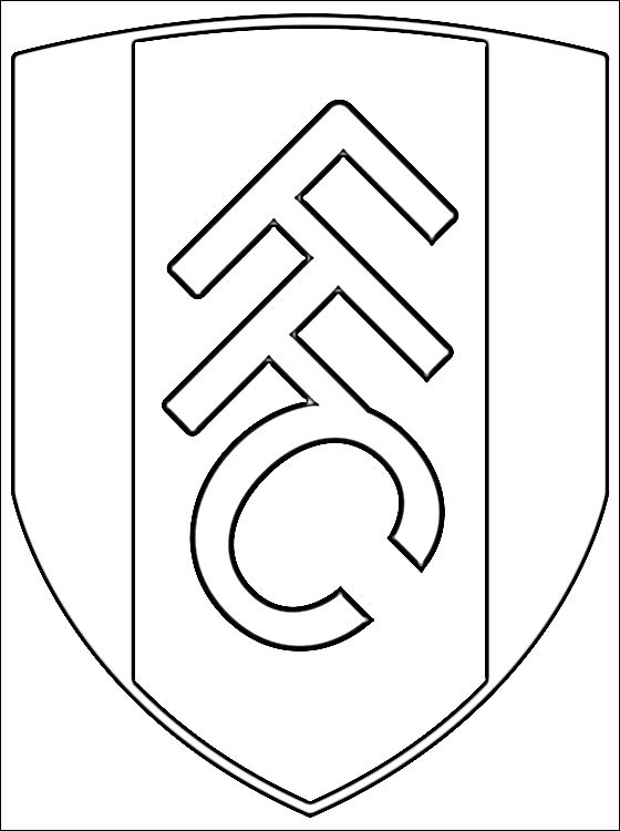 Coloring Page Fulham FC Coloring Pages