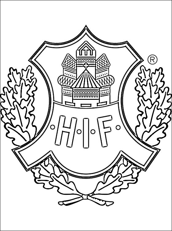 Helsingborgs IF Logo Coloring Page Coloring Pages