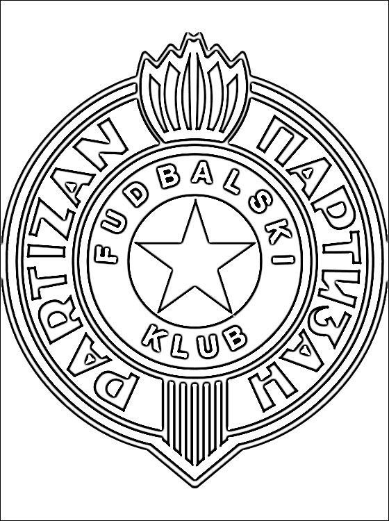 Coloring Page Of FK Partizan Logo Coloring Pages