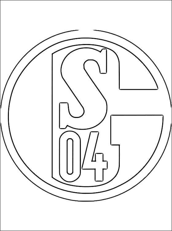 Coloring Page FC Schalke 04 Coloring Pages