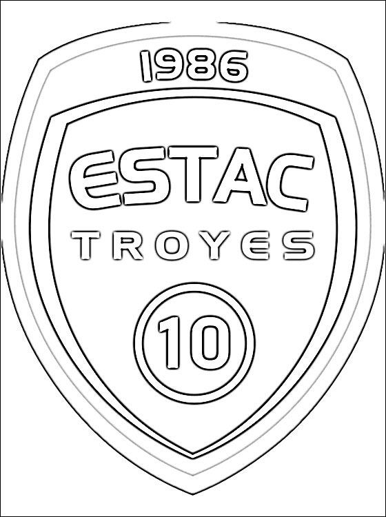 Logo Of Troyes AC Football Club Coloring Pages