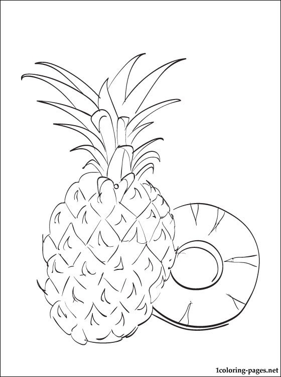 Pineapple Coloring Page For Free Coloring Pages