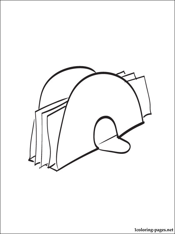 Napkin Holder Coloring Page Coloring Pages