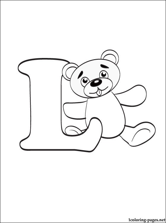 Letter L Coloring Page Coloring Pages
