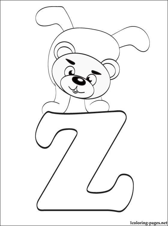 letter z coloring page # 81