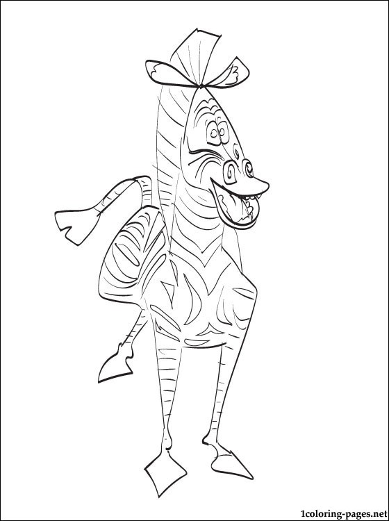 Marty The Zebra To Madagascar Coloring Page Coloring Pages