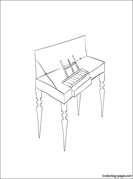 Clavichord Coloring Page Coloring Pages