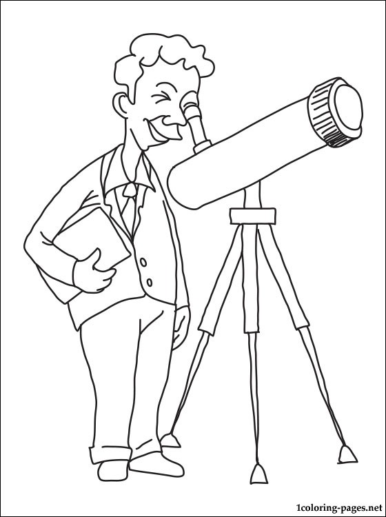 Astronomer Coloring Page Coloring Pages
