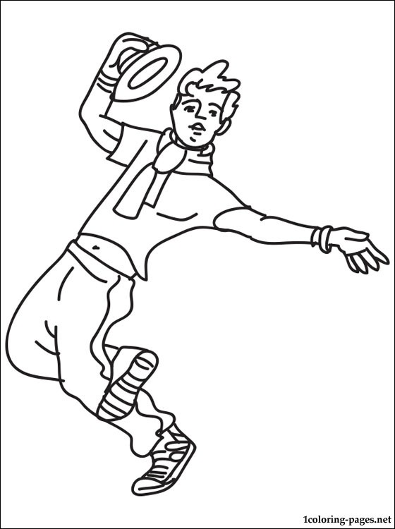 Dancer Coloring Page Coloring Pages