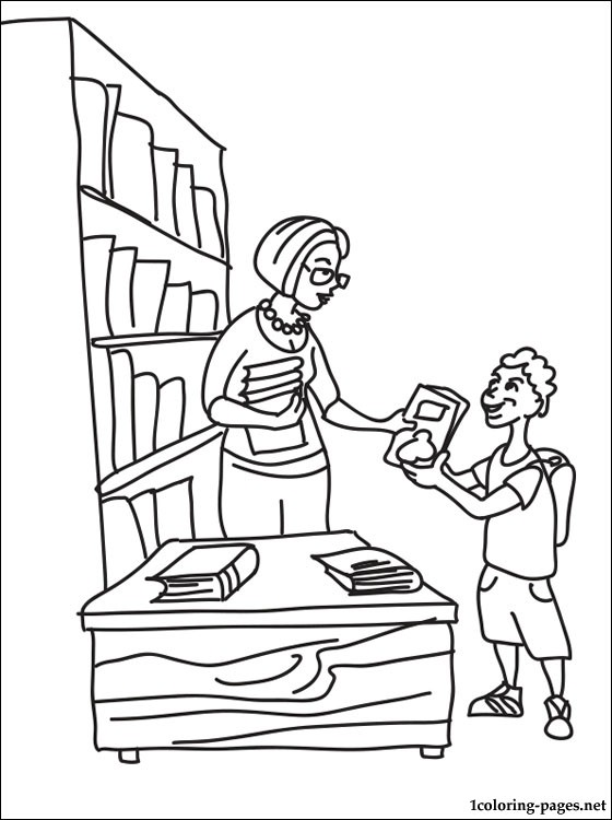Librarian Coloring Page Coloring Pages
