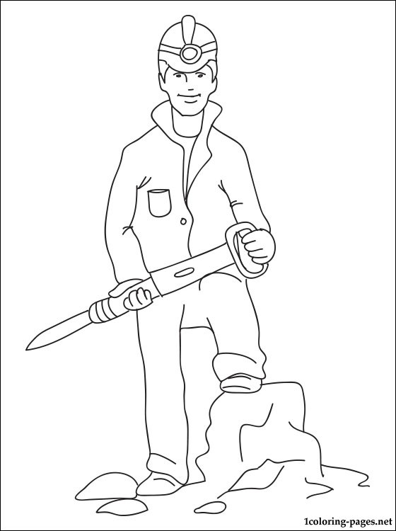 Miner Coloring Page Coloring Pages