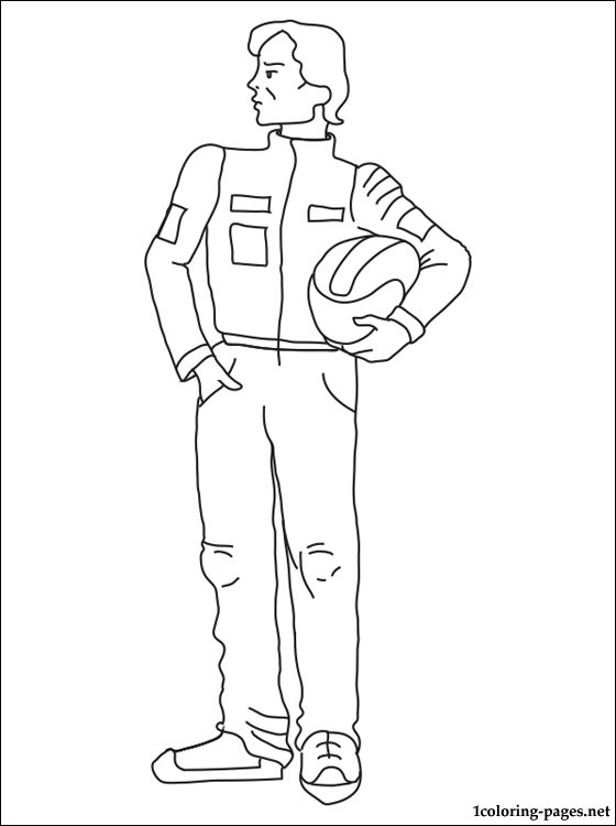 Racing Driver Coloring Page Coloring Pages