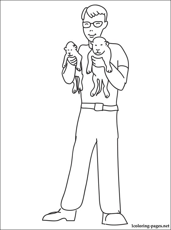 Zoologist Oloring Page Coloring Pages