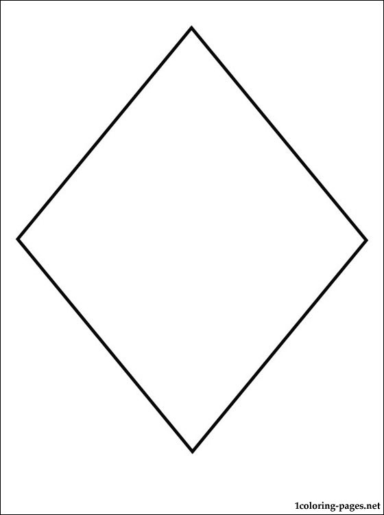 Diamond Coloring Page Coloring Pages