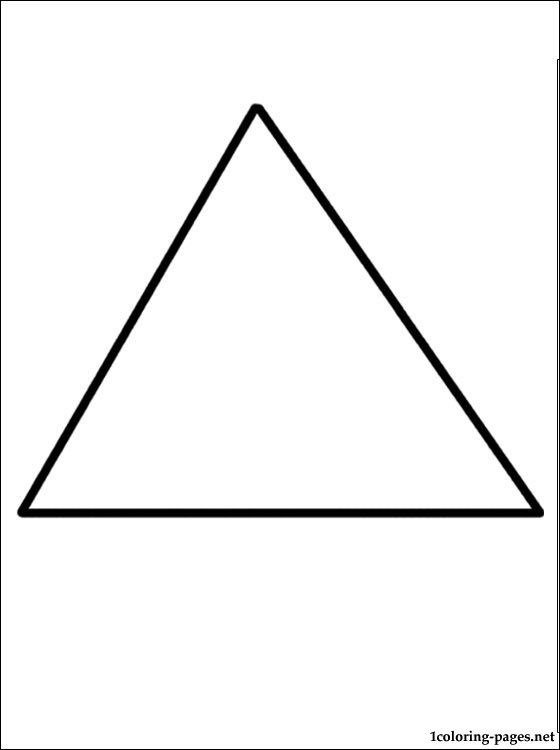 triangle coloring page coloring pages