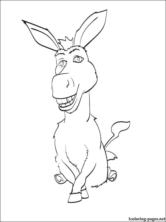Penciling color donkey shrek coloring pages, easter bunny coloring pages
