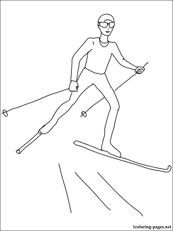 Biathlon coloring page coloring pages, love birds coloring pages
