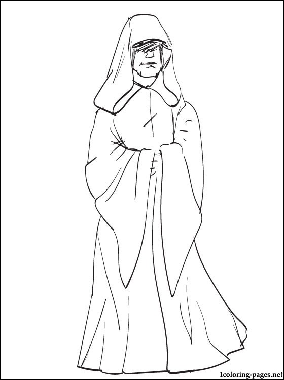 Star Wars Emperor Palpatine Coloring Page Coloring Pages