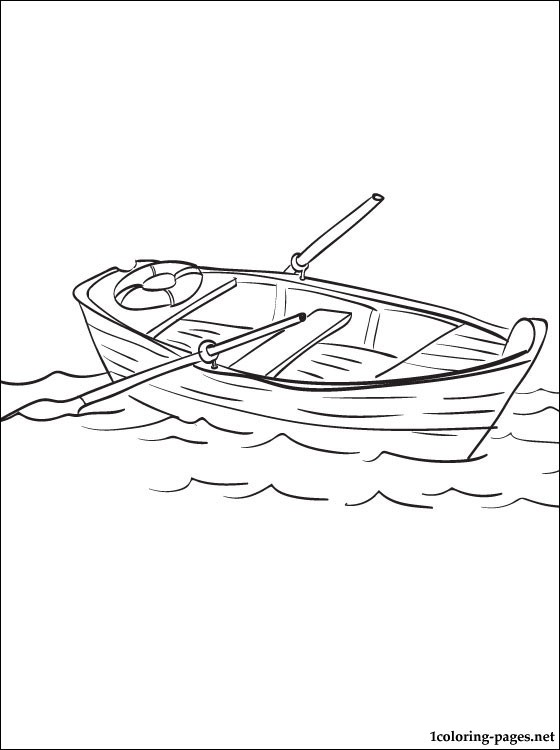Boat Coloring Page Coloring Pages
