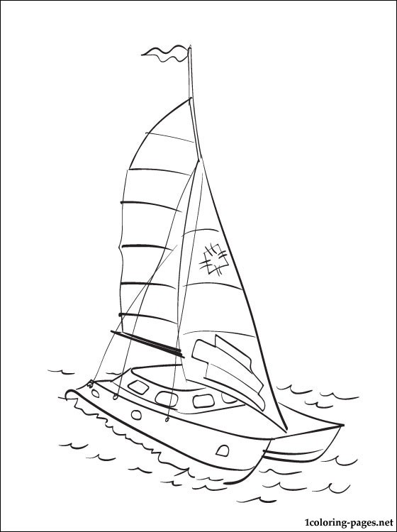 Catamaran Coloring Page Coloring Pages